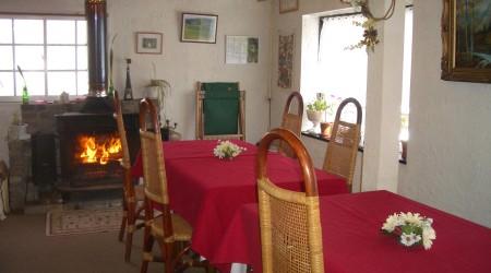 白馬ペンションるんびにーの食堂