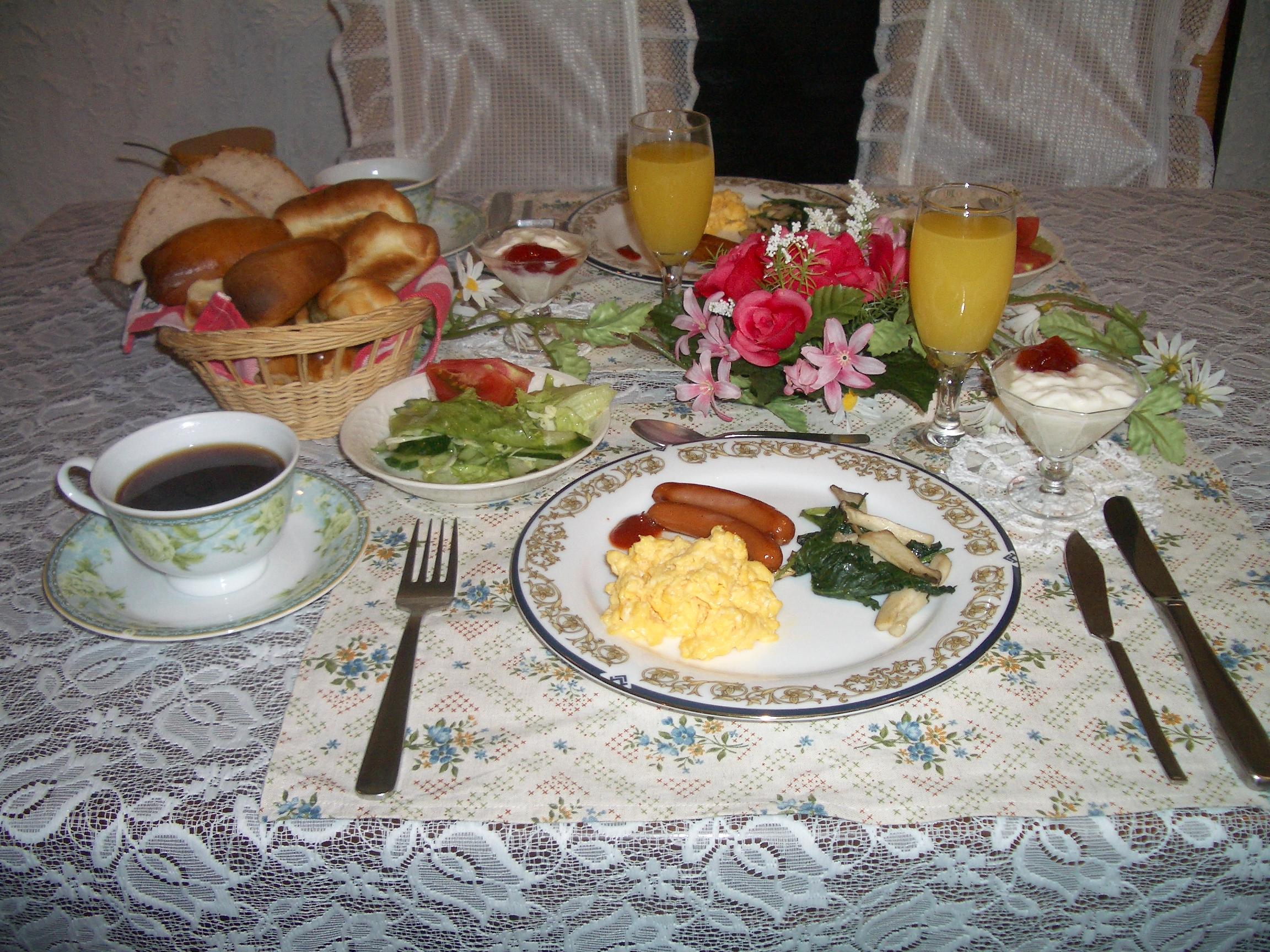 白馬の宿泊施設るんびにーの朝食